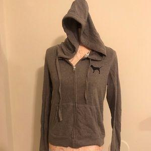 Grey zipped hoodie